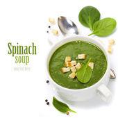 Soupe traditionnelle aux épinards — Photo