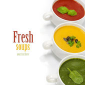 Traffic light soups — Photo