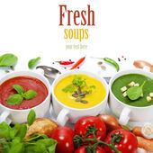 Traffic light soups — Stock Photo