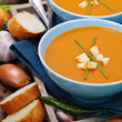 Traditional Carrot soup - Stock Photo