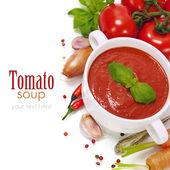 традиционные томатный суп — Стоковое фото