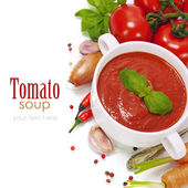 Tradiční rajčatová polévka — Stock fotografie