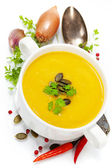 Traditional Pumpkin soup — Stock Photo
