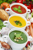 Traffic light soups — Foto Stock