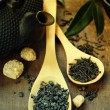 Green and Black Tea — Stock Photo