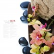 Spa composition with beautiful orchid — 图库照片