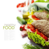 Healthy sandwiches — Stock Photo