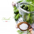 Preparing preserves of pickled cucumbers — 图库照片