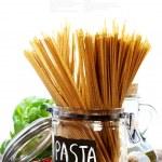 Whole wheat spaghetti — Stock Photo