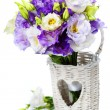 Beautiful eustoma flowers  bouquet — Stok fotoğraf