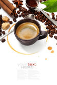 Coffee cup with coffee stain — Stock Photo