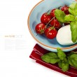 Caprese - Italian salad with tomatos and mozarella cheese — Stockfoto