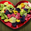 Raw colorful pasta — Stockfoto