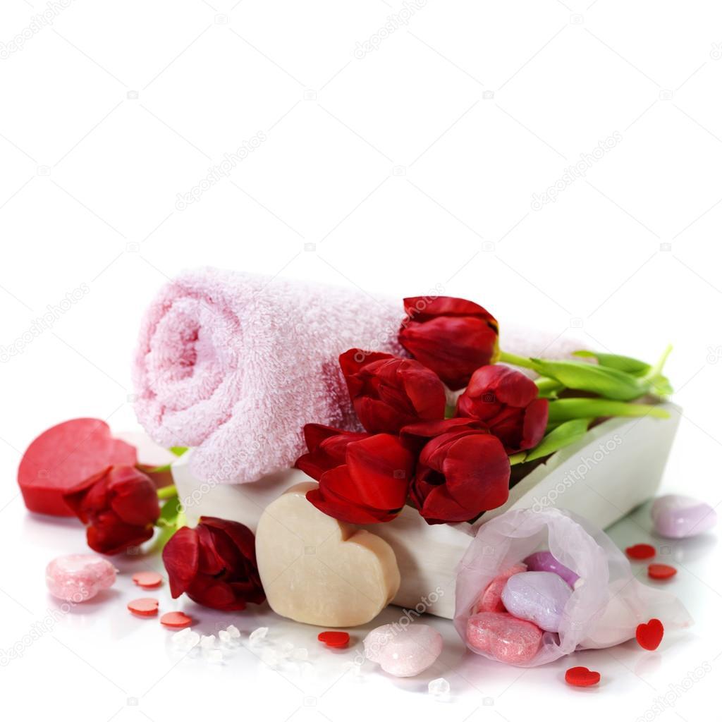 bain et spa th me saint valentin photographie klenova 33958177. Black Bedroom Furniture Sets. Home Design Ideas