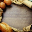Bread and ingredients — Stock Photo