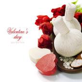 Bath and spa Valentine theme — Stock Photo