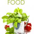 färsk basilika i kruka och italienska ingredienser — Stockfoto
