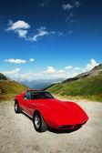 Krásné červené auto — Stock fotografie