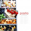 Assorted pastas — Stock Photo