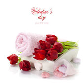 Bath and spa Valentine theme — Stock Photo