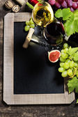Wine and grape background — Stock Photo