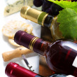 Wine, grape and cheese — Stock Photo