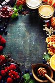 Cadre de petit déjeuner — Photo