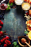 Quadro pequeno-almoço — Foto Stock