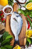 Kochen fisch — Stockfoto