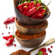 Chili peppers with herbs and spices — Stock Photo #46930865