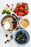 Healthy breakfast - muesli and berries — Photo