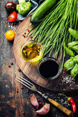 Organic Vegetables and spices — Stock Photo