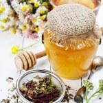 Honey and Herbal tea — Stock Photo #51176351