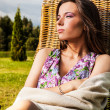 Portrait of the young relax woman outdoors — Stock Photo #13148433