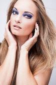 Salud natural belleza de un rostro de mujer — Foto de Stock
