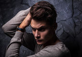 Elegant young handsome man. Studio fashion portrait. — Foto Stock