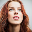 Sexy redhead young woman — Stock Photo #16998641