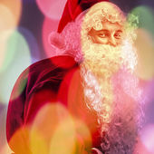 Multicolored digital painted image portrait of Santa Claus. — Stock Photo