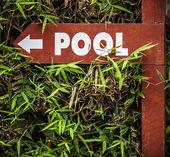 "Signo ""piscina"". — Foto de Stock"