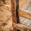 Element of the old wooden porch - Stock Photo