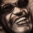 Portrait of a famous musiciant Ray Charles - Stock Photo
