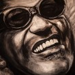 Foto Stock: Portrait of famous musiciant Ray Charles