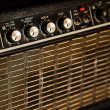 Vintage guitar amplifier - Stock Photo