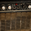Vintage guitar amplifier - Zdjcie stockowe