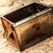 Old vintage and rusty container — Stock Photo