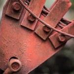 Old grunge rusty metal detail — Stock Photo