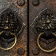 Vintage door handles — Stock Photo