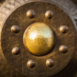 Vintage antique metal background — Stock Photo