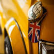 Classic yellow Mini - Stock Photo