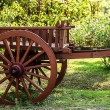 Stock Photo: Old wooden cart